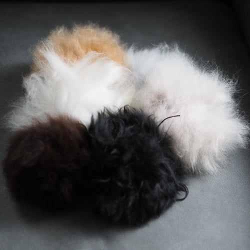 Ethical Alpaca Fur Pom Pom - The Little Grey Girl