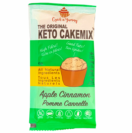 keto cake mix healthy dessert Apple Cinnamon