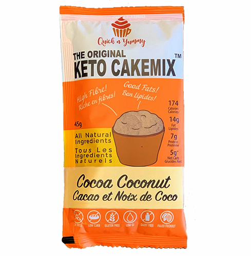 keto cake mix healthy dessert cocoa coconut