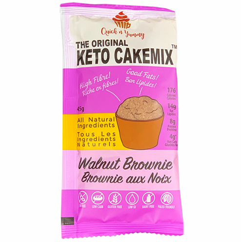 keto cake mix healthy dessert walnut brownie