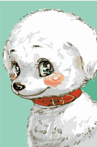 Image of Sweet Puppy - DIY Painting By Numbers