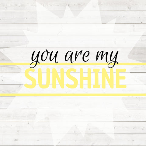 Image of you are my sunshine painting