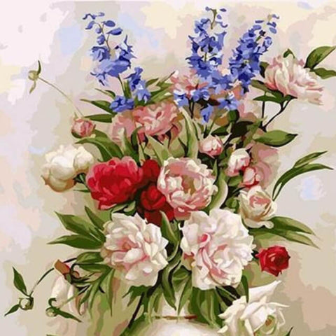 Image of Flowers in a Vase - DIY Painting By Numbers