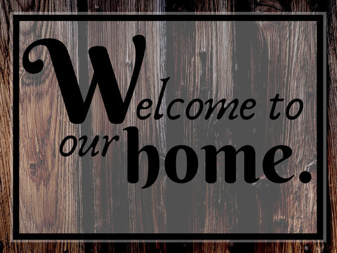 Image of Welcome To Our Home - DIY Diamond  Painting