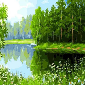 Green Lake -  DIY Painting By Numbers