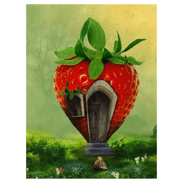 Strawberry Cottage - DIY Diamond Painting