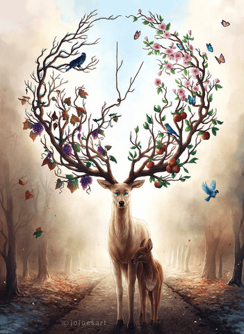 Image of colorful deer diamond painting
