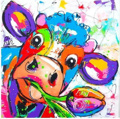 Colourful Cow - DIY Diamond  Painting