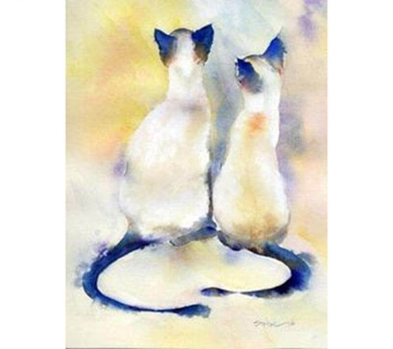 Couple Cats - DIY Diamond Painting