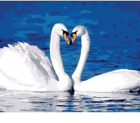 Image of White Swans - DIY Diamond Painting