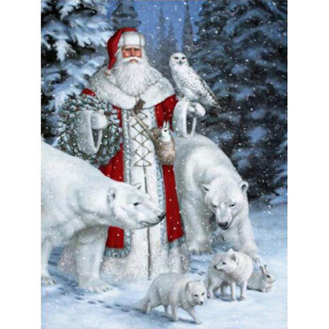 Image of santa claus painting for kids