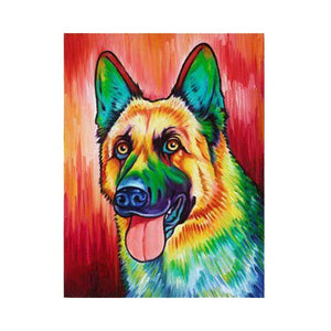 Dog Pop Art #3 - DIY Diamond Painting