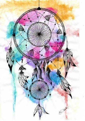 Indian Dream catcher #6 - DIY Diamond Painting