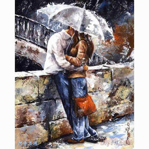 Kissing in the Rain - DIY Diamond  Painting