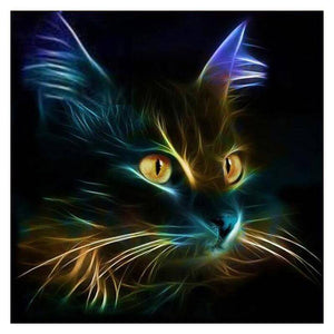 Neon Cat - DIY Diamond Painting