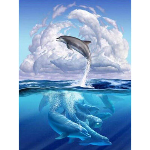 Image of Dolphins - DIY Diamond Painting