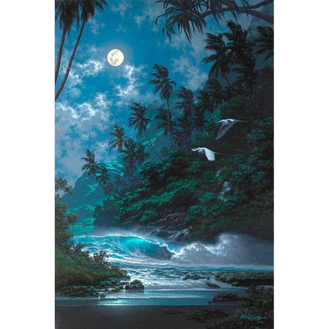 Image of night landscape painting
