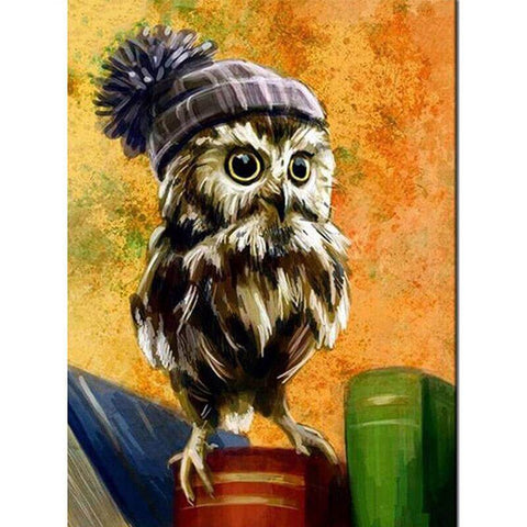 Image of Owl with a hat - DIY Diamond Painting