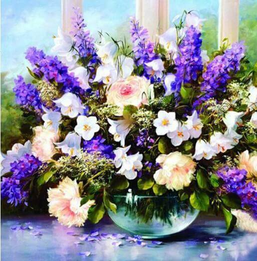 Lavender flowers - DIY Diamond Painting