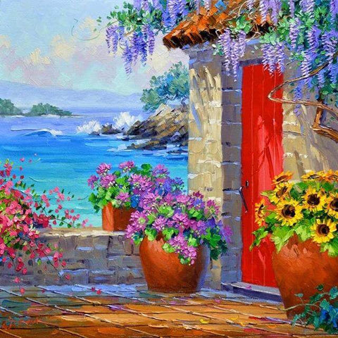 Image of Mediterranean landscape #9 - DIY Diamond Painting
