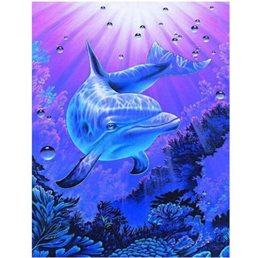Dolphin Crystal Clear - DIY Diamond Painting