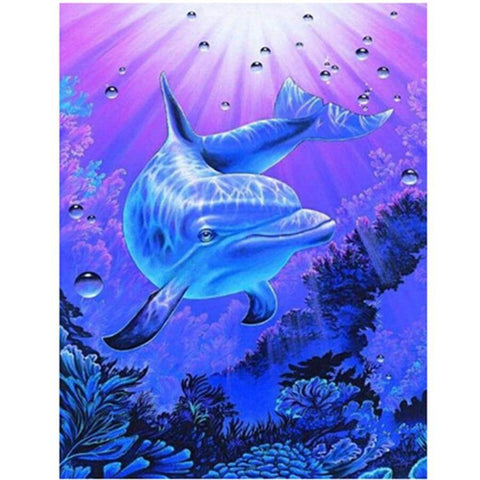 Image of Dolphin Crystal Clear - DIY Diamond Painting