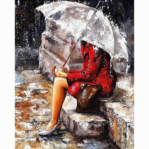 Sitting in the Rain - DIY Diamond  Painting