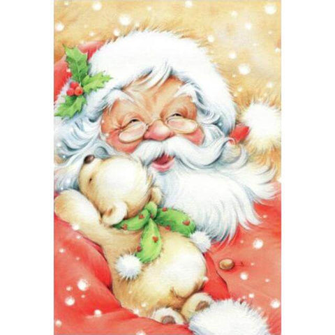 Image of Santa Clause with puppy - DIY Diamond Painting