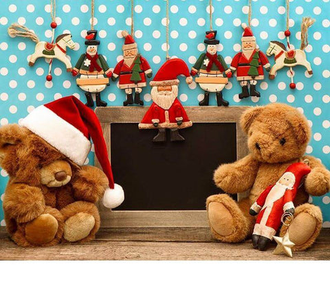 Image of Santa Teddy Bear - DIY Diamond  Painting