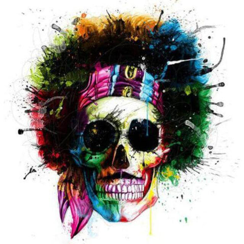 Image of Colourful Skull -  DIY Diamond  Painting