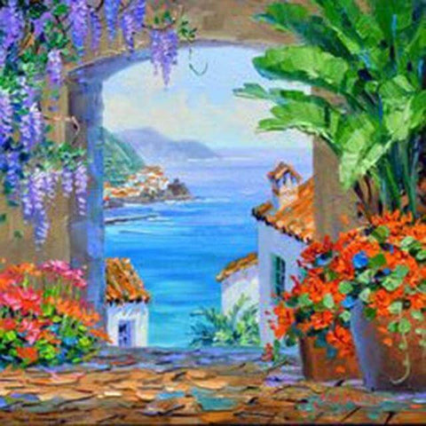 Image of Mediterranean landscape #11- DIY Diamond Painting
