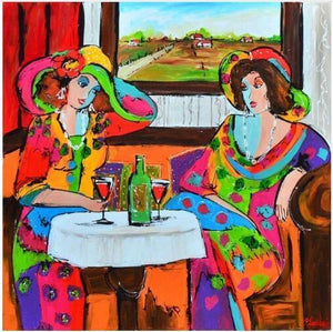 Women in a restaurant - DIY Diamond  Painting