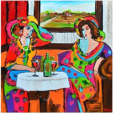 Image of Women in a restaurant - DIY Diamond  Painting