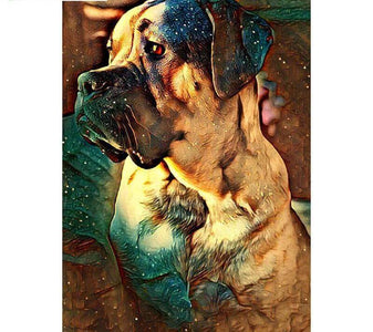 Thinking Dog - DIY Diamond Painting - DIY Diamond Painting