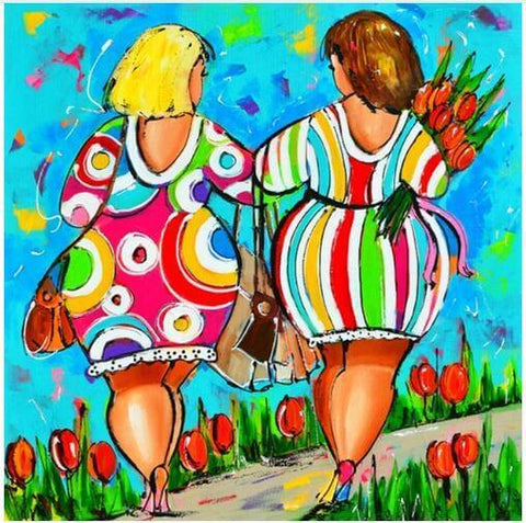 Women walking - DIY Diamond  Painting