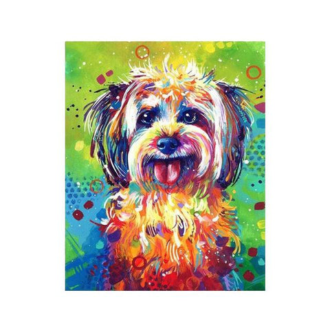 Image of dog portrait painting