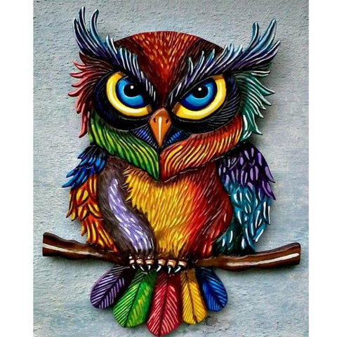 Image of Colorful Owl - DIY Diamond Painting