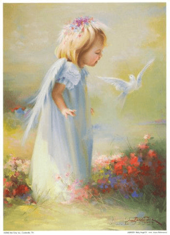Image of Little angel and dove - DIY Diamond Painting
