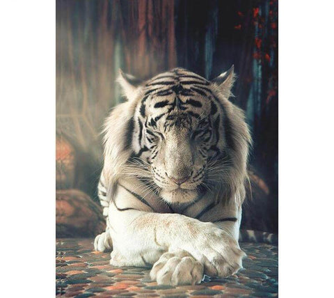 Image of Calm Tiger- DIY Diamond Painting