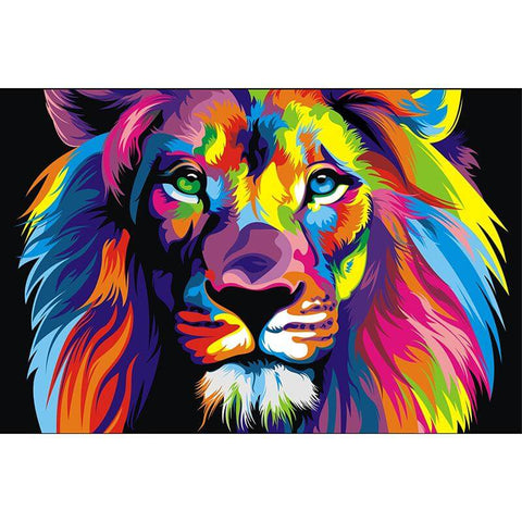 Image of lion diamond art
