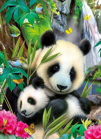 Image of Pandas in Nature - DIY Diamond  Painting