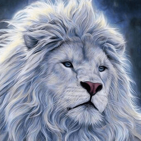 Image of White Lion - DIY Diamond Painting