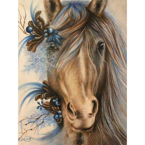 Brown Horse - DIY Diamond  Painting