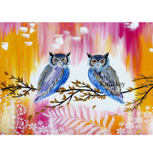 Couple Owls - DIY Diamond Painting