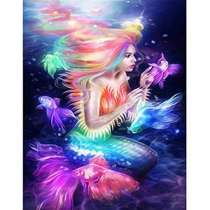 Glowing Mermaid - DIY Diamond Painting