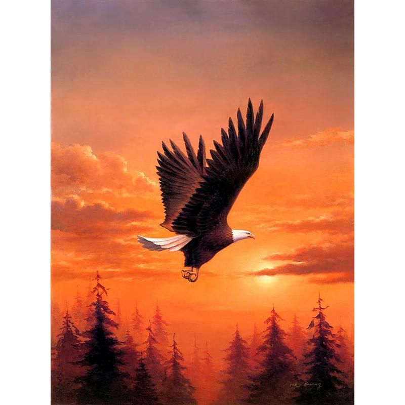 Twilight Eagle - DIY Diamond Painting