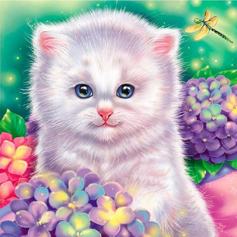 Image of White Cat - DIY Diamonds Painting