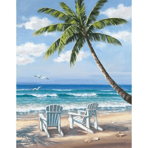 Image of beautiful sea view painting