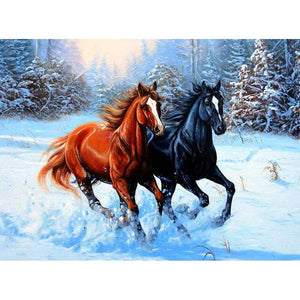 Riding Horses - DIY Diamond  Painting