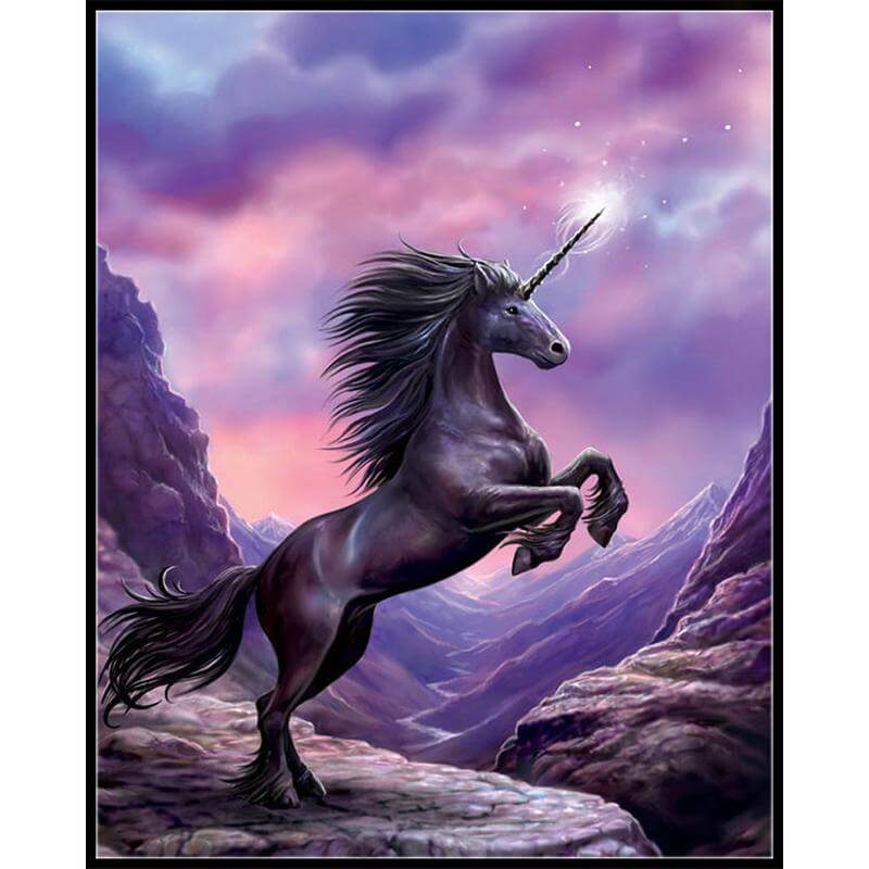 Blazing Unicorn - DIY Diamond Painting